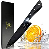 Romeo Cooks Professional 8-inch Chef Knife made of High Grade Stainless Steel for Razor Sharp Edge, Best Choice for Kitchen & Home with Sharpener