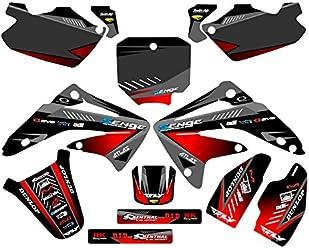 Senge Graphics Kit Compatible with Honda 1996-2002 CR 80 Surge Black Graphics kit