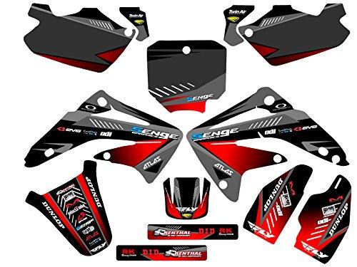 センジグラフィック2003 – 2013 Honda Cr 85サージブラックグラフィックキット   B074CGV31C