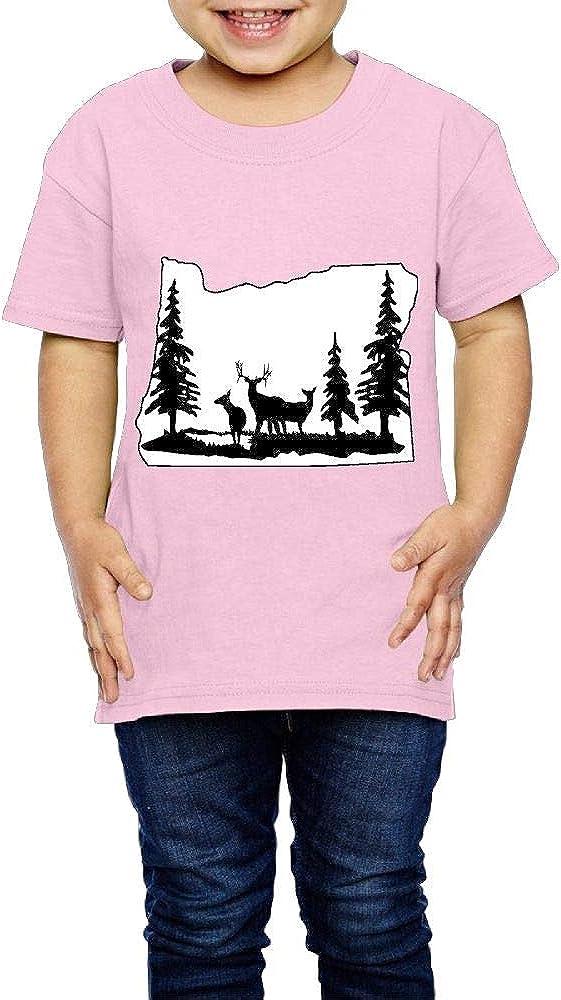 Oregon Deer Scene 2-6 Years Old Child Short Sleeve T-Shirt