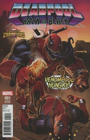 Deadpool Back In Black #1 Cover C Incentive KABAM Contest Of Champions Game Variant Cover