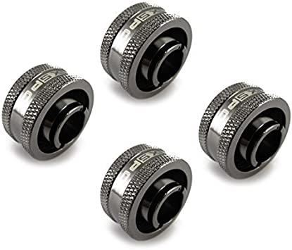 5//8 OD Compression Fitting Black Chrome V2-4 Pack XSPC G1//4 to 7//16 ID