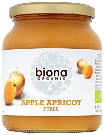 Biona Organic Apple and Apricot Puree 350 g (Pack of 2) 75307