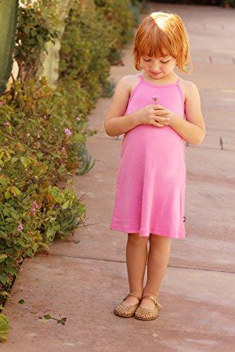 City Threads Big Girls' Summer Dress Cami Camisole Spaghetti Strap Maxi Slip No Sleeve Dress For Sensitive Skin or SPD Sensory Friendly, White w/ Ligh Pink Stitch, 7 by City Threads (Image #7)