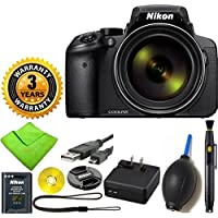 Nikon COOLPIX P900 Digital Camera with 83x Optical Zoom and Built-In Wi-Fi (Black) with Lens Cleaning Pen + 3 Year Worldwide Warranty - International Version