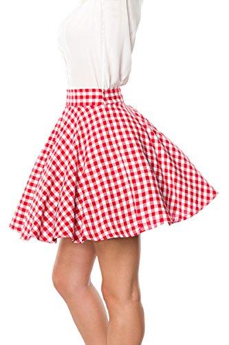 Rojo Para Blanco Belsira Falda Mujer q1w4x4tZ5H