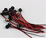 Quickbuying 5pcs 41.5mm Electret Condenser Microphone MIC Capsule 2 Leads