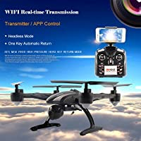 JXD 509W WIFI Real-time Transmission 2.4GHz / APP Control 720P CAM 4CH 6 Axis Gyro Quadcopter Headless Mode - BLACK