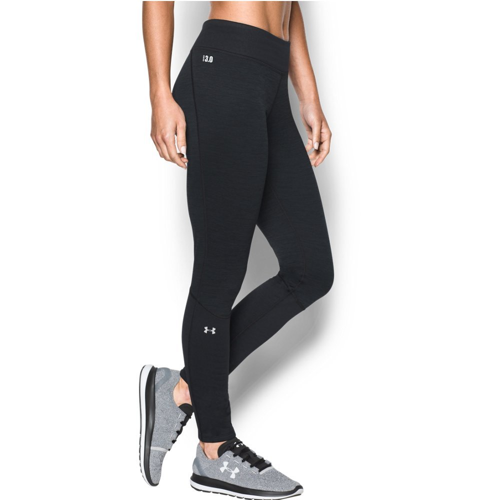 Under Armour Women's Base 3.0 Leggings, Black/Glacier Gray, Medium