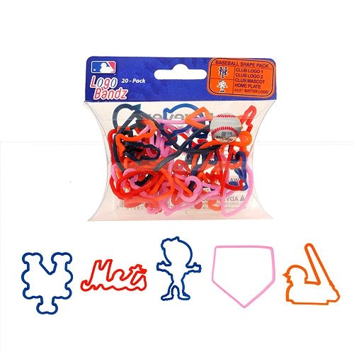 MLB New York Mets Team Player Logo Bandz Bracelets Mets Rubber Bracelets