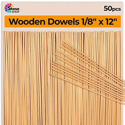 (Wooden Dowel Rods Thin 12 inches -1/8