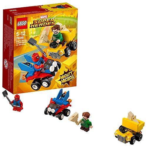 [해외] 레고(LEGO) 슈퍼히어로즈 마이 T 마이크로 포스:스파이더맨 VS.샌드 맨 76089