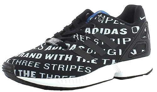 b8d36ef44 adidas ZX Flux C - Zapatillas de Gimnasia de Material Sintético para niño  Negro Blanco y Negro  Amazon.es  Zapatos y complementos