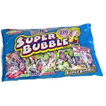 Super Bubble Bubble Gum, 3lb Bag of Assorted Flavors