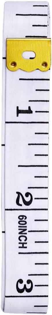 YUIO Zoll Ma/ßband Farbe Kunststoff Ma/ßband Lineal L/änge 1,5 Meter schwarzer Text auf wei/ß