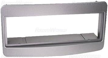 Silver Fascia Facia Panel Adapter Plate Trim Surround Car Stereo Radio For Celica MR-2 Yaris Avensis Corolla RAV4