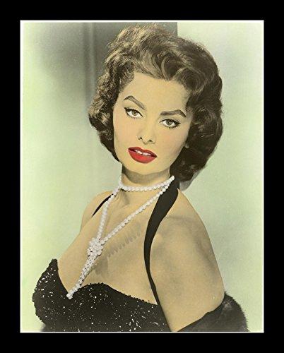 - 8 x 10 All Wood Framed Photo Sophia Loren