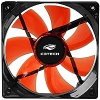 Cooler Fan C3Tech Storm 12cm Led Vermelho - F7-L100RD