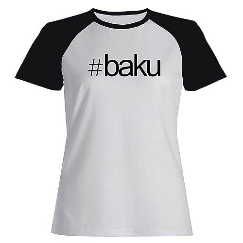 Idakoos Hashtag Baku - Capitali - Maglietta Raglan Donna