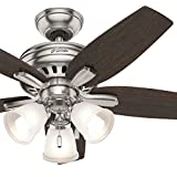 Hunter Fan 42 in. Ceiling Fan with 3 Lights in Brushed Nickel (Certified Refurbished)