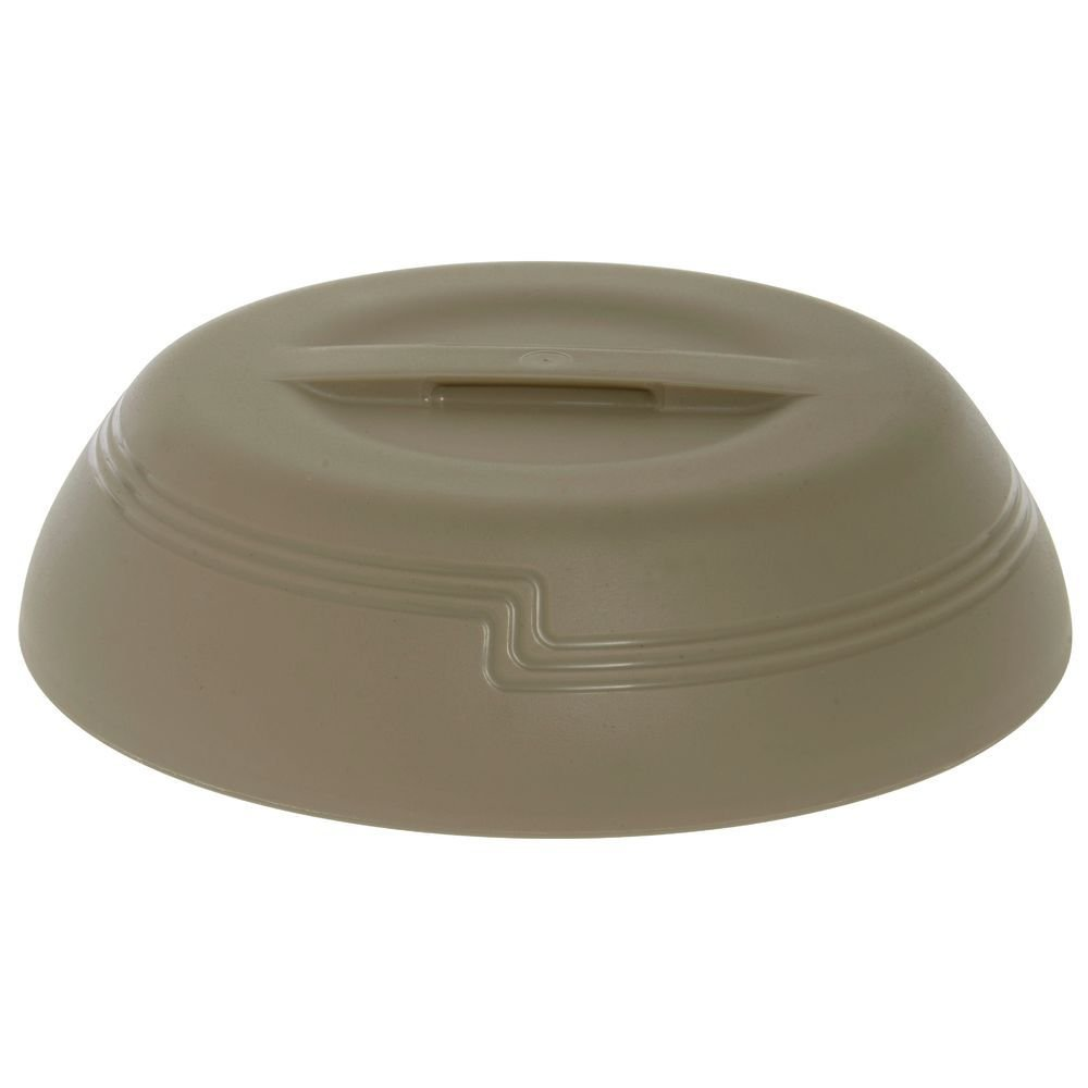 Cambro Shoreline Collection Low-Profile Wheat Beige Plastic Insulated Dome - 10 3/8Dia x 2 3/4H by CAMBRO MFG COMPANY