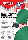Okladki do bindowania Office Products A4 kartonowa 100 sztuk zielona/blyszczaca