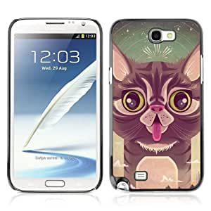 Designer Depo Hard Protection Case for Samsung Galaxy Note 2 N7100 / Cute Cat