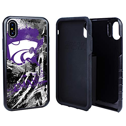 Guard Dog Kansas State Wildcats Paulson Designs Spirit Hybrid Case for iPhone X/Xs with Guard Glass Screen Protector