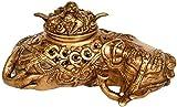 Elephant Incense Burner - Brass Sculpture