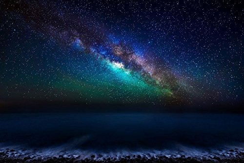 Milky Way Galaxy From The Canary Islands   Art Print On Canvas  35X24inch  Unframed