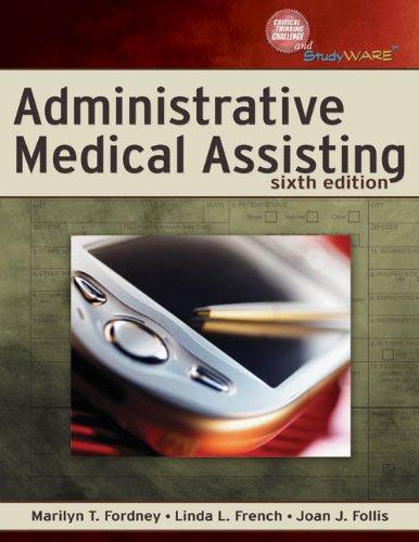Bundle Administrative Medical Assisting 6th Workbook Epub