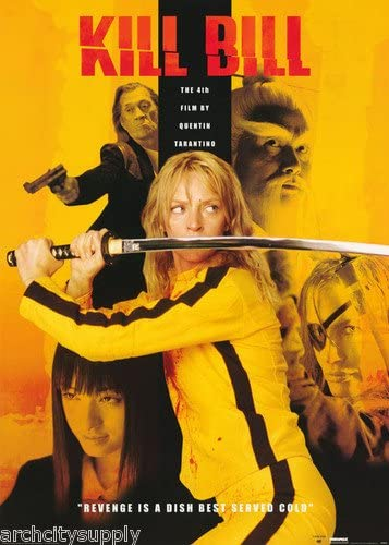 Amazon.com: Kill Bill Poster Uma Thrurman: Prints: Posters & Prints