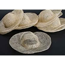 Package of 12 Open Weave Sinamay Hats for Crafting, Creating and Dolls