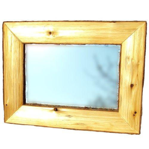 Log Framed Mirror