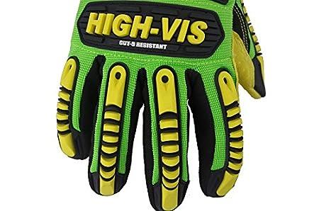 Seibertron HIGH-VIS SDXC5 Mechanics Cut5 Impact Cut Puncture Resistant Gloves Oil and Gas//Oilfield Safety Gloves CE EN388 4543 XXL