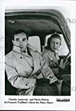 "1960 Press Photo ""Shoot the Piano Player"" Charles Aznavour, Marie Dubois"