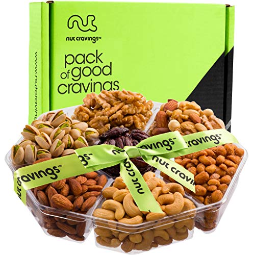 Holiday Nuts Gift Basket - Gourmet Food Gifts Prime Delivery - Christmas, Mothers & Father's Day Fruit Nut Gift Box, Assortment Tray - Birthday, Sympathy, Get Well, Woman & Families By Nut Cravings