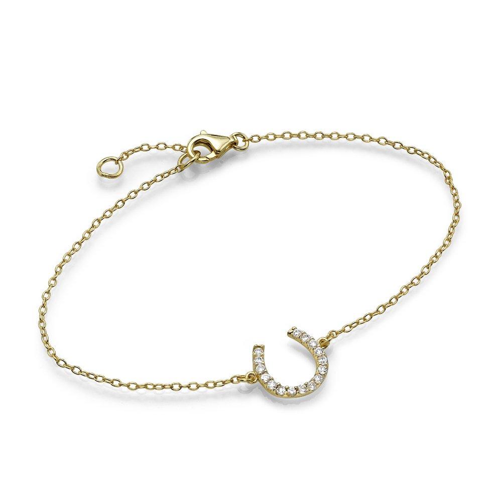Gold Plated Lucky Horseshoe Bracelet