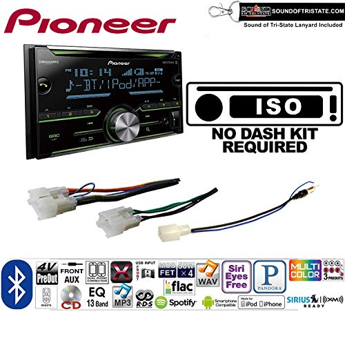 (Pioneer FH-S701BS Double Din Radio Install Kit with CD Player Bluetooth Fits Non Amplified 1987-2009 Toyota 4Runner, 1987-2015 Camry, 1995-2015 Tacoma + Sound of Tri-State)