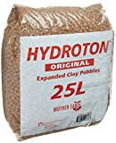 Hydroton Original Clay Pebbles - 25 Liter | Lightweight Expanded Clay Aggregate Made in Germany