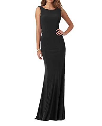 LastBridal Women Beaded Scoop Mermaid Prom Evening Dresses Long Formal Party Gowns LB0128 US 2 Black