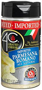4C Imported Paremsan Romano Grated Cheese, 8-Ounce Canisters (Pack of 4)