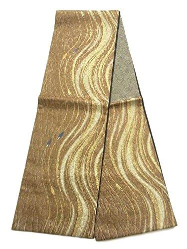 落胆する遺伝的伝統リサイクル 袋帯 櫛織 よろけ縞模様