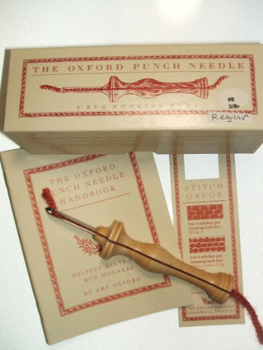 Oxford Wood Punch Needle Rug Hooking Tool #9 3/8'' Regular w/ Box Booklet by Oxford