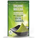 Matcha Green Tea Powder - Powerful Antioxidant Japanese Organic Culinary Grade - 113 grams - For Lattes, Cookies, Smooties, and Baking
