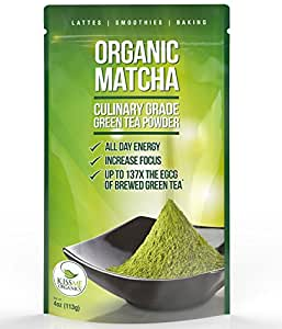 Matcha Green Tea Powder - Powerful Antioxidant Japanese Organic Culinary Grade - 113 grams