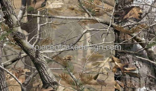 1/4 Sheet ~ Real Camo Woodland Trees Birthdays ~ Edible Cake/Cupcake Topper!!!