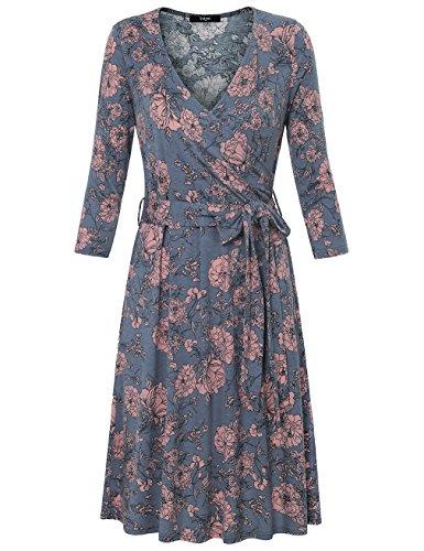 Vintage Flower Print Dress - 2