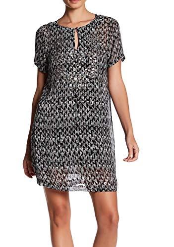 Lucky Brand Embellished Shift Dress Black Multi SM (US 4-6)