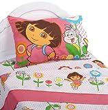 Dora the Explorer Cheerful Bloom Twin Sheet Set